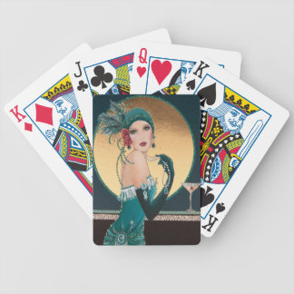 Art Deco 1920's Flapper Girl  Playing Cards