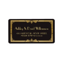 Art Deco 1920s Gatsby Wedding Return Address Label