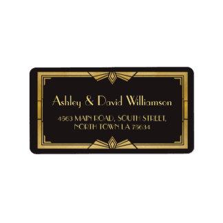 Art Deco 1920s Gatsby Wedding Return Address Label