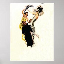Art Deco 1920s Jazz Age Poster