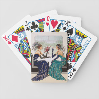Art Deco 1920's Women. Playing Cards