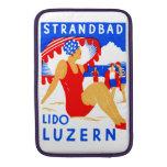 Art déco 1929 Strandbad Lido Lucerna Fundas Para Macbook Air