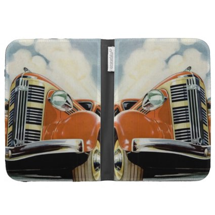 Art Deco 1930's Red Motor Kindle Case