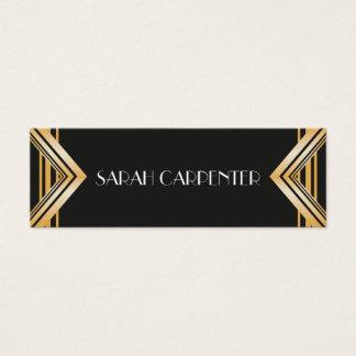 Art Deco - 20s Business Card - faux gold frame