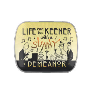 Art Deco 20s Retro Inspirational Sunny Demeanor Jelly Belly Tins