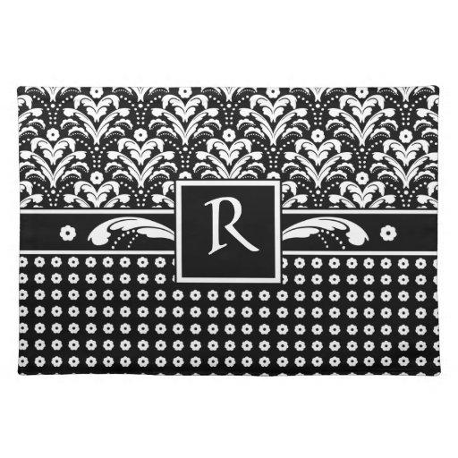 Art Deco 30s Formal Elegance Floral Damask Cloth Placemat
