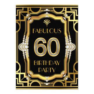 Art Deco 60th Birthday Party Card
