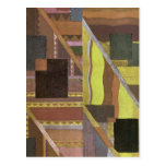 Art Deco Abstract in Brown and Green Post Card