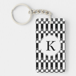 Art Deco Abstract / Vienna Secession Geometric Keychain