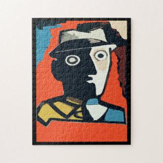 Art déco abstracto de la cara rompecabezas