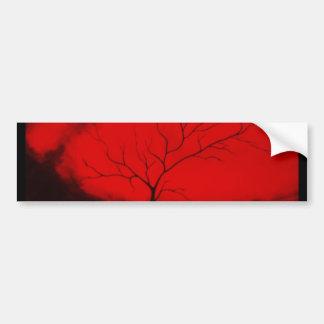 Art déco abstracto original del árbol abstracto y pegatina para auto