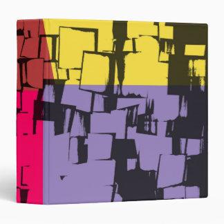 Art déco abstracto retro de la pintura roja amaril