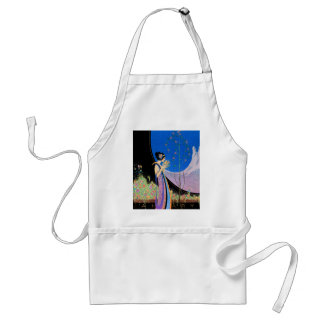 Art Deco Advertising Art  by Fred Parker Adult Apron