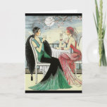 """Art Deco All Occasion Greeting Card<br><div class=""""desc"""">Art Deco All Occasion Greeting Card mixed media bohemian mermaid art studio(c) blank inside All Occasion,  Birthday hello,  thinking of you card</div>"""