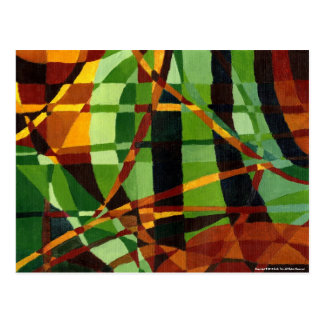Art Deco+Art Nouveau Abstraction Postcard