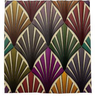 Vintage Chic Art Nouveau Deco Shower Curtains