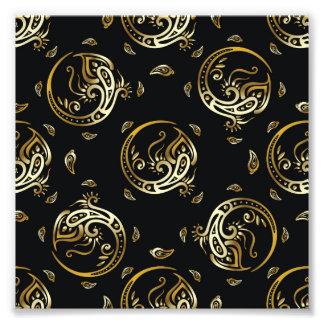art deco,art nouveau,vintage,gold,black,pattern,ch photo print