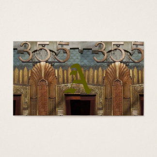 art deco, art nouveau, vintage,original,elevator,d business card