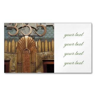 art deco, art nouveau, vintage,original,elevator,d business card magnet