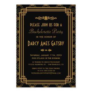 """Art Deco Bachelorette Party Invitations 5"""" X 7"""" Invitation Card"""