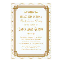 Art Deco Bachelorette Party Invitations