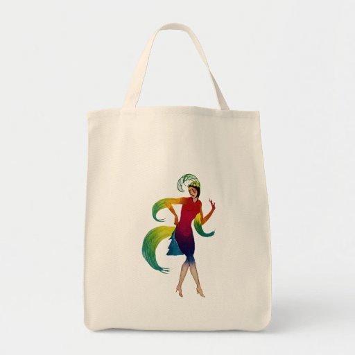Art Deco bailarina dancer Bolsa Tela Para La Compra