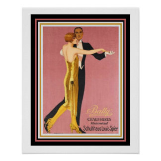 "Art Deco ""Bally Chaussures""  Poster 16 x 20"