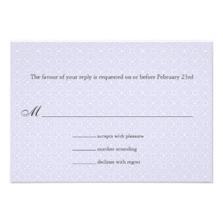 Art Deco Band Lilac Wedding Response Personalized Announcements