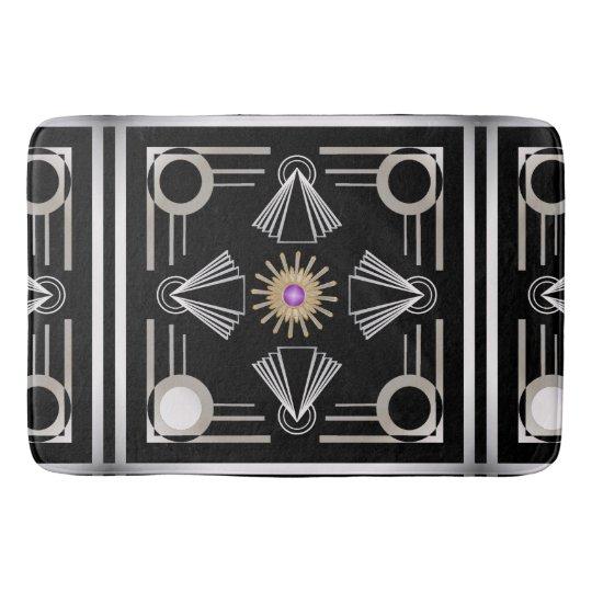 Art Deco Bathroom Mat Zazzle Com