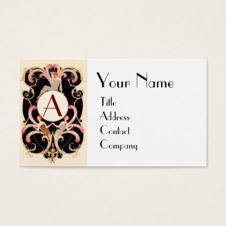 ART DECO BEAUTY FASHION COSTUME DESIGNER MONOGRAM BUSINESS CARD