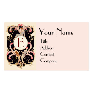ART DECO BEAUTY FASHION COSTUME DESIGNER MONOGRAM Double-Sided STANDARD BUSINESS CARDS (Pack OF 100)