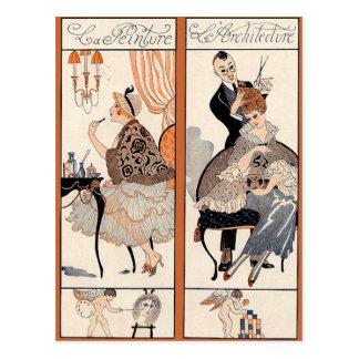Art Deco Beauty Postcard