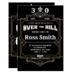 Art Deco Beer Label Over The Hill Party Invitation