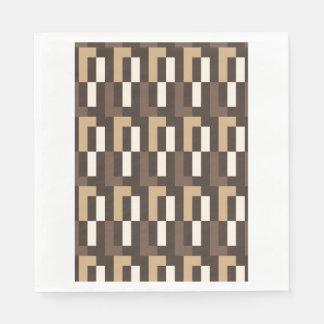 Art déco beige y marrón servilletas de papel