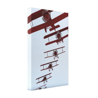 Art Deco Biplane Gallery Wrap Canvas
