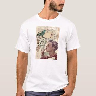 Art deco bird  french scripts great gatsby girl T-Shirt
