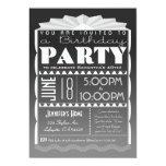 "Art Deco Birthday Invitation - Gatsby Style Grey 5"" X 7"" Invitation Card"