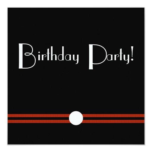 Art Deco Birthday Invite in Black and White