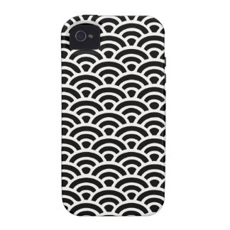 Art Deco Black and White Pattern Case For The iPhone 4
