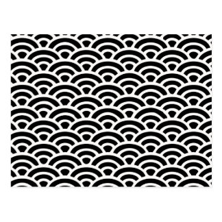 Art Deco Black and White Pattern Postcard