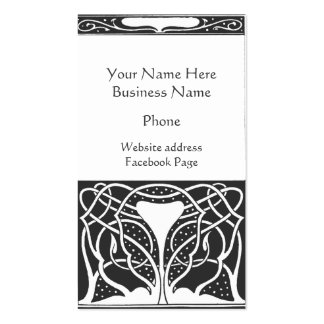 Art Deco Black and White Photo Double-Sided Standard Business Cards (Pack Of 100)