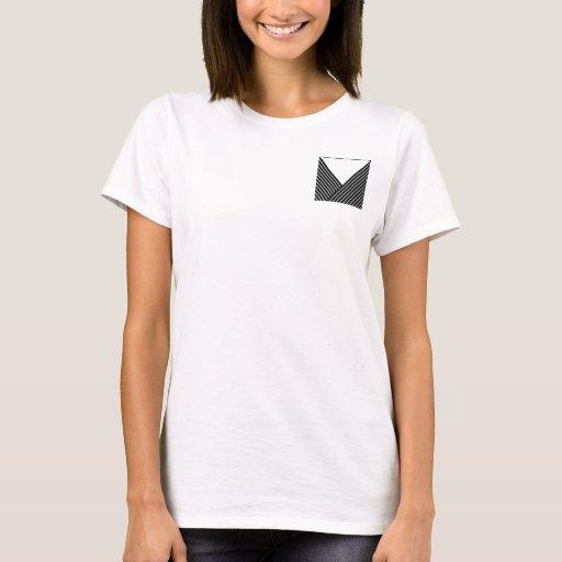 Art Deco Black and White Stripe T-Shirt