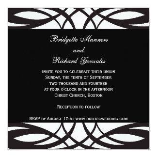 Art Deco Black and White Wedding Invitations