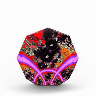 Art Deco Black Hollyhocks Lilac Gifts Acrylic Award