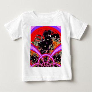 Art Deco Black Hollyhocks Lilac Gifts Baby T-Shirt