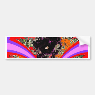 Art Deco Black Hollyhocks Lilac Gifts Bumper Sticker