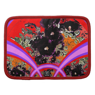 Art Deco Black Hollyhocks Lilac Gifts Folio Planners