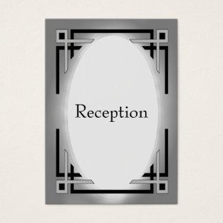 Art Deco Black & Silver Wedding Business Card