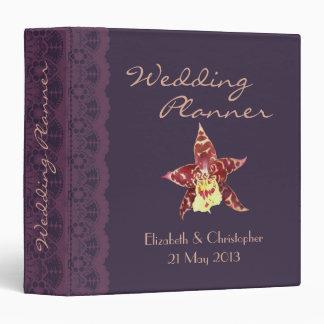 Art deco black wedding planner 3 ring binder