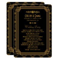 Art Deco Black Wedding Programs